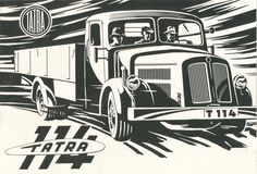 Cover in for the central dealer of motor cars ÚP Sport Cars, Race Cars, Car Tattoos, Truck Art, Brochure Cover, Mini Trucks, Old Signs, Old Pictures, Old Cars
