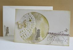 Birth card for a little girl