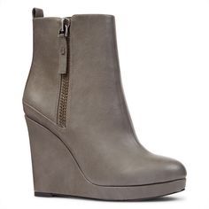 85575a160ddc Nine West Hartnsol Wedge Booties ( 40) ❤ liked on Polyvore featuring shoes