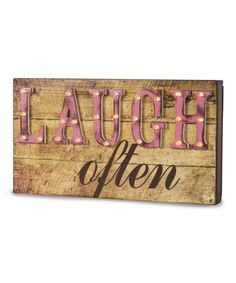 Look at this #zulilyfind! 'Laugh Often' Marquee Sign #zulilyfinds