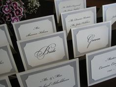 Tent Escort or Place Card in Custom Colors by YinVivoWeddings