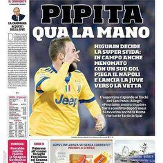 """(@higuainitas.arg) su Instagram: """"@Regranned from @corrieredellosport - La prima pagina di oggi sabato 2 dicembre: - Pipita qua la…"""""""