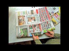 Kuinka tabloid-kokoisesta sanomalehdestä taitellaan biojätepussi. Pirkanmaan…