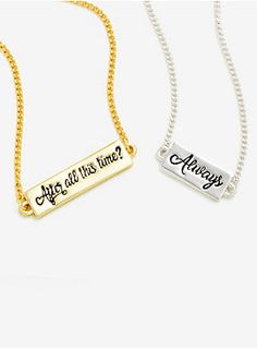 Let 'em know it's an always thing | Harry Potter Always Necklace Set - BoxLunch Exclusive