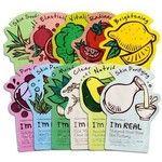 Tony Moly - Value Pack - I'm Real Mask Sheet 10pcs 10pcs - Broccoli - Vitality