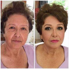 Maquiagem na terceira idade - Antes e depois ⋆ De Frente Para O Mar