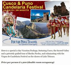 The Festival of the Virgen de la Candelaria was added to UNESCO's Representative List of Intangible Cultural Heritage of Humanity. Interested in experiencing this fabulous event in February? Check out the special 9-day Cusco & Puno Candelaria Festival package we've put together.