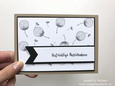 Stampin Up - Karte - Card - Aufrichtige Anteilnahme - Trauerkarte - Stempelset Doppelt Gemoppelt - Stempelset Partyballons - Grau - Schwarz ♥ StempelnmitLiebe
