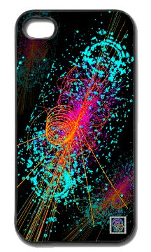 """""""Particle:  Higgs Boson""""(c) on an iPhone cover.  (c) 2013 Textiles for Thinkers, LLC.  All Rights Reserved."""