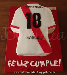 Torta camiseta River Soccer Party, Sports Party, Carp, T Shirt, Ideas, Cake Party, Themed Cakes, Pastries, Recipes