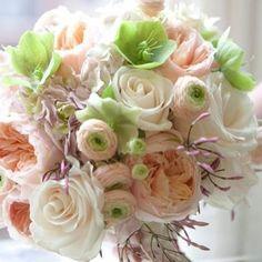 Favorite Wedding Bouquet ~ Ranunculus amidst Roses