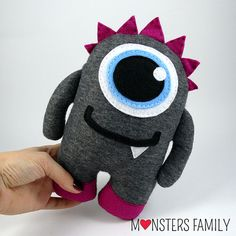 Hi, my name is Rocker and I am a friendly Monster. I am coming in three sizes: - big size - about 18x12,5 inches (45x31cm), - medium size - about