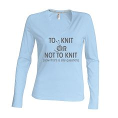Dames | longsleeve To knit or not to knit (K382)