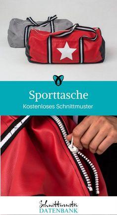 Sporttasche Reisetasche nähen kostenloses Schnittmuster