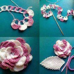 DIY Crochet Flowers: DIY Crochet Flowers DIY Crafts : DIY Crochet flower. The color change in this so pretty. Oh inspiration. ༺✿Teresa Restegui http://www.pinterest.com/teretegui/✿༻