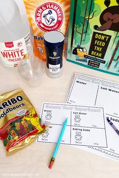 Simple Science: Gummy Bear Experiment | First Grade Buddies Easy Science, Science Fair, Science Experiments, Summer School, School Days, Gummy Bear Experiment, Learning Activities, Teaching Ideas, Dont Feed The Bears