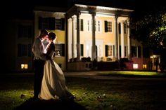 Kurstin Roe Photography - Oatlands Plantation, Leesburg VA - Bellwether Events - bride & groom portrait at night