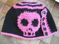 Graph Chart Skull Beanie - Crochet Pattern