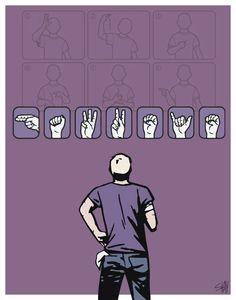 Hawkeye Deaf Clint Barton Matt Fraction/David Aja by SHAYDDDesigns