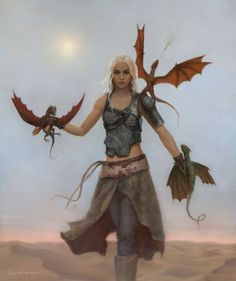 Daenerys and dragons