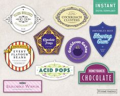 Harry Potter Party Printable Candy Labels by PrintedInstinct