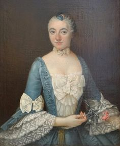 1750s - Lady from noble couple, Catherine Charlotte Roze, portraits by ?
