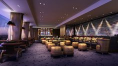CGI of Gong at the soon to open Shangri-La Hotel at the Shard, London. GŎNG, London's highest bar on level 52, takes its name from 'dougong' – an ancient Chinese structural element of interlocking wooden brackets that will be a component of the bar's interior.  The bar will open in July 2014.