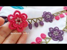 Bu oya modeliyle tüm dikkatleri üzerinize çekin🤗🍀 Herkesin gözü kalacak😍🧿 - YouTube Paper Quilling Jewelry, Micro Macrame, Wire Wrapping, Crochet Earrings, Projects To Try, Crochet Patterns, Handmade Jewelry, Make It Yourself, Beads