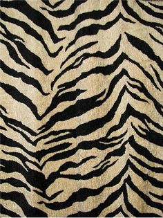 """M7553 Fluffy Onyx Tiger -  Heavy & soft chenille jacquard fabric. Perfect for furniture upholstery, pillow covers, bedding or headboards. Content; 82% Rayon/18% Poly. Repeat; 13-1/2"""" V 13-1/2"""" H. 54"""" wide"""