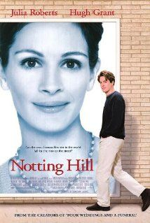"""Notting Hill An easy-going romantic comedy starring Hugh Grant and Julia Roberts.""""I'm just a girl. Two movies stars I don't even want to like but they work well together. Chick Flick Movies, Chick Flicks, Streaming Movies, Hd Movies, Movies Online, Watch Movies, Movies Free, Comedy Movies, Girly Movies"""