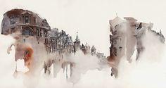 Artista coreana faz aquarela das cidades que visita