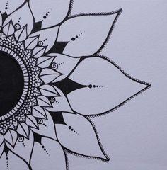 23 Ideas Tattoo Sunflower Mandala Patterns For 2019 Sunflower tattoo – Top Fashion Tattoos Sunflower Mandala Tattoo, Dotwork Tattoo Mandala, Sunflower Tattoo Shoulder, Sunflower Drawing, Lotus Mandala, Sternum Tattoo, Lotus Tattoo, Tattoo Thigh, Mandala Design