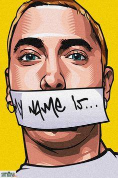 "Beautiful ""Eminem aka Slim Shady"" metal poster created by Ahmad Sutrisno. Slim Shady, Eminem Wallpapers, Dope Wallpapers, Dope Cartoon Art, Dope Cartoons, Caricature, Willian Smith, Arte Do Hip Hop, Tupac Art"