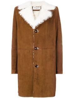 Saint Laurent shearling lined coat