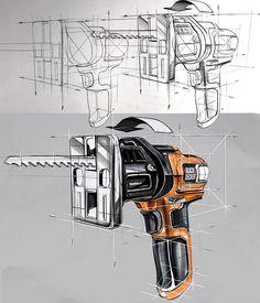 Industrail Design Sketch & Marker Rendering Tutorial on Behance