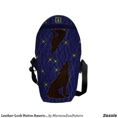 Leather-Look Native American Zodiac Wolf