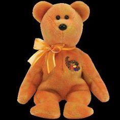 Ty Beanie Baby - Harvester the Bear: Ty Beanie Babies Harvester the Thanksgiving Beanie . New Beanie Boos, Beanie Baby Bears, Ty Beanie, Bear Toy, Teddy Bear, Pilgrims And Indians, Beanie Buddies, Cute Bears, Big Eyes