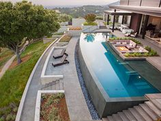 Terraced pool
