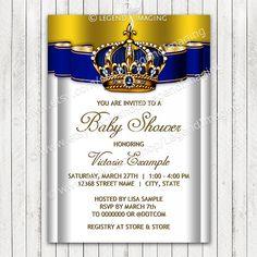 Royal Baby Shower InvitationPrince Baby by LegendImaging on Etsy, $21.00