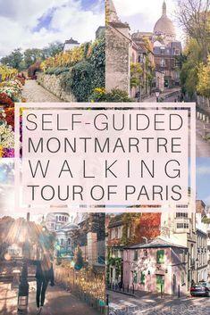 Paris self-guided walking tour. Free walking tour of Montmartre, 18e arrondissement of the city of lights, France. Highlights include the Sacré-Coeur, Place du Tertre, Etc.