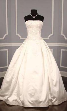 New With Tags Reem Acra Wedding Dress 4670 Rich Eternity, Size 8