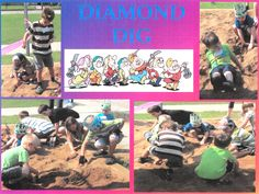 """Library staff buried """"diamonds"""" in the sand for an active event outdoors / Bibliothécaires ont caché des diamants dehors - Lamont Public Library AB"""
