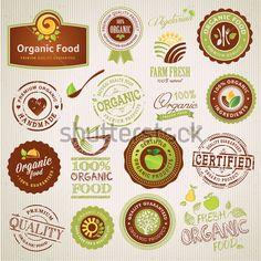 Conjunto DE Rótulos DE Alimentos Orgânicos E Elementos clip arts - ClipartLogo.com