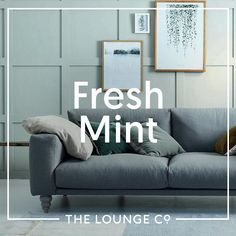 Interior Inspiration - Fresh Mint | Mouthwatering mint is soft and subtle with a hint of freshness. Choose furniture in shades of mint, aqua and seafoam for a lounge that's elegant and uplifting... #theloungeco #chair #sofa #colourtrend #mint #freshmint #aqua #seafoam #duckegg #lounge #SS17trend #interiorinspiration #interiorinspo Sofa Bed, Couch, Traditional Sofa, Comfortable Sofa, Fresh Mint, Leather Sofa, Color Trends, Interior Inspiration, Sofas