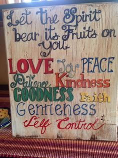 fruit of the spirit sign