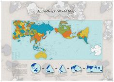 This world map is weird — and weirdly accurate Traditional 2-D maps of Earth include major distortions. A new award-winning design, however, makes a world of difference.Created by Hajime Narukawa, the AuthaGraph World Map was recently announced as the winner of the 2016 Good Design Grand Award, one of the most prestigious design awards in Japan. It preserves the proportions of continents and oceans as they're actually arranged on our round planet, yet it's laid out on a 2-D surface.