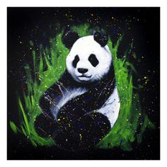 Panda Painting, Moon Painting, Bamboo Drawing, Simple Wall Paintings, Cute Lizard, Penguin Drawing, Jungle Room, Panda Art, Cartoon Art