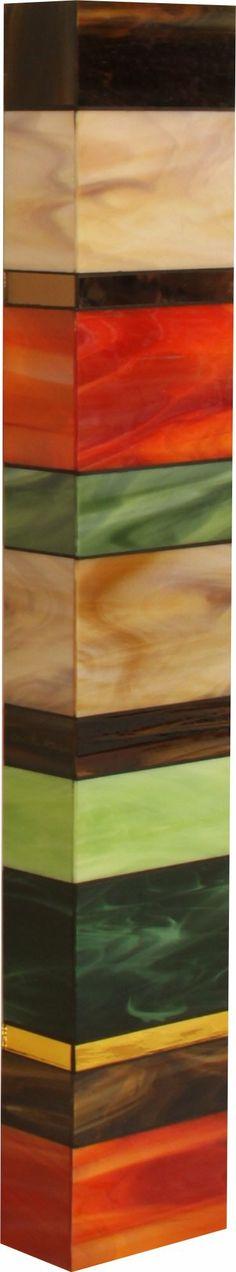 Earth Totem I: Gerald Davidson: Art Glass Wall Art | Artful Home