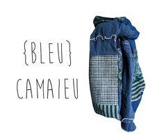 Echarpe XL homme femme Laine Hiver Bleu Pois Pied de Poule Fleurs Rayures Fait Main Modèle Unique : Echarpe, foulard, cravate par lefil