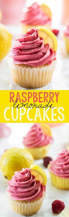 Scrumptious lemon cupcakes are topped with a tart delicious Raspberry Buttercream which make these Raspberry Lemonade Cupcakes a perfect…